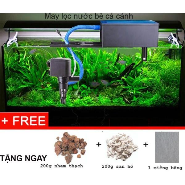 Combo Hệ thống lọc nước cho bể cá cảnh 60cm - 100cm tặng kèm vật liệu lọc vi sinh