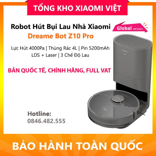 Robot Hút Bụi Lau Nhà Xiaomi Dreame Bot Z10 Pro – Bản Quốc tế, Giá Đã Có VAT, Phân Phối Chính Hãng
