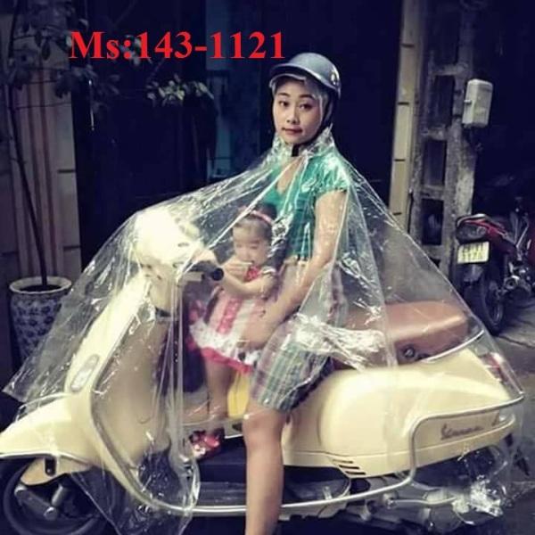 Giá bán 1143-Aó mưa trong suốt kèm khẩu trang 1 đầu