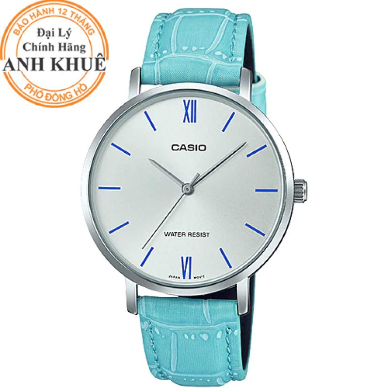 Đồng hồ nữ dây da Casio Anh Khuê LTP-VT01L-7B3UDF