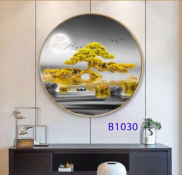 Tranh đèn LED 5D - 3 chế độ ánh sáng  AMIKURA53 sử dụng trang trí nội thất gia đình  mang phong cách châu âu