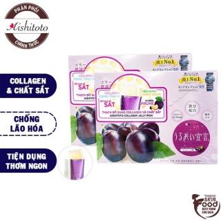 Thạch Bổ Sung Collagen Và Sắt Vị Mận AISHITOTO Collagen Jelly Iron 300g thumbnail