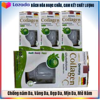 Chống Nám Da, Vàng Da, Giảm Lão Hóa, Mịn Da, Sáng Da, Mờ Thâm- Viên Collagen+ C Glutathione Làm Đẹp Da (06NcTl) thumbnail