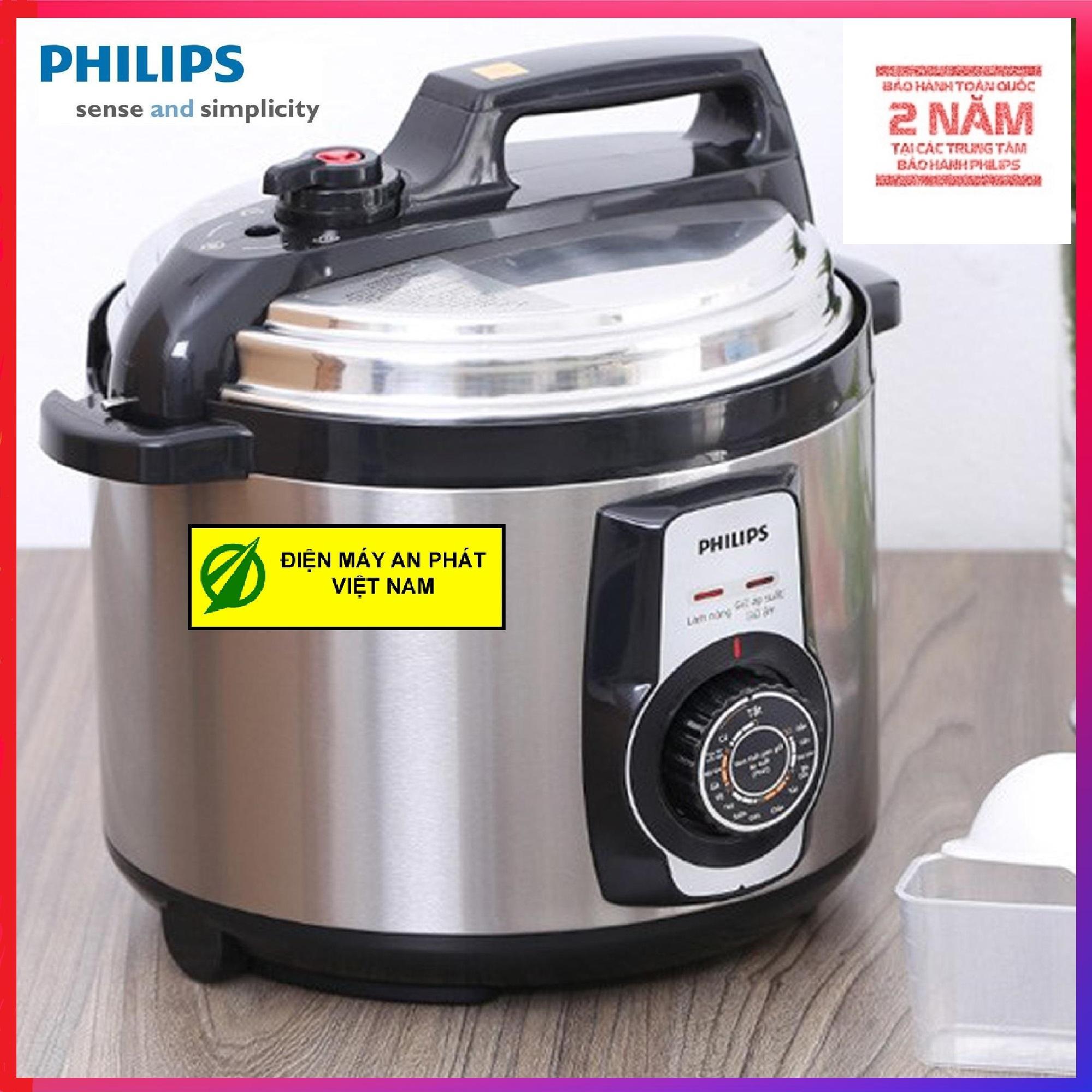Nồi áp suất Philips HD2103 (Inox) 5L - Hàng Công ty- Xuất hóa đơn GTGT theo yêu cầu của Quý khách - SP Bảo hành 2 năm trên toàn quốc)