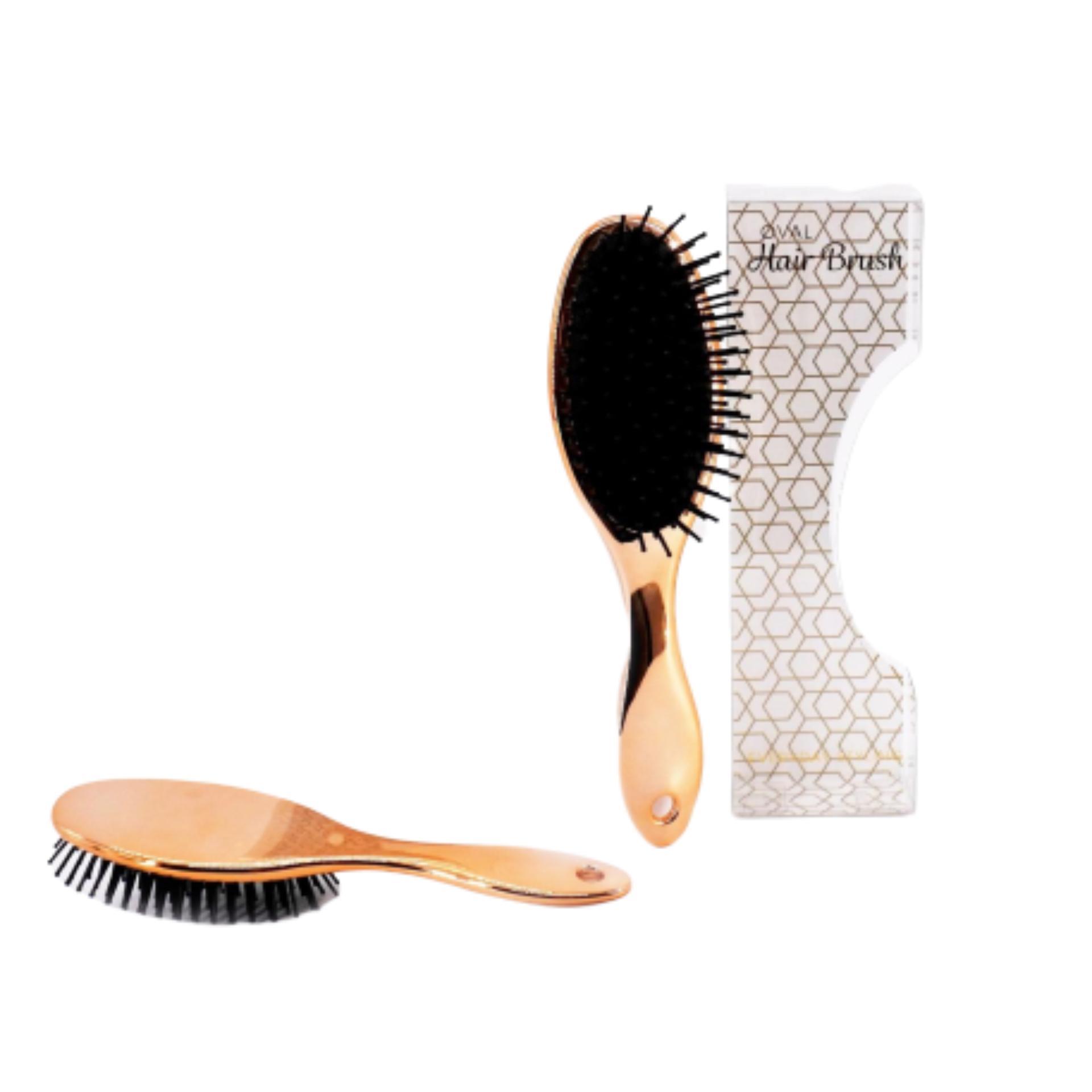 Lược chải tóc Oval UBL AH3662 size 22 x 6.4 cm (Vàng hồng)