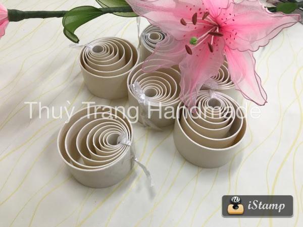 Bộ khuôn làm hoa voan (8 kích thước)