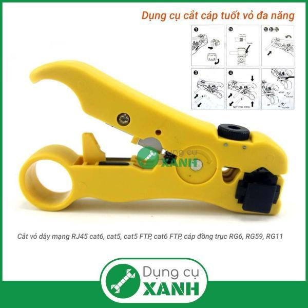 Dụng cụ cắt tách tuốt vỏ cáp đồng trục, điện thoại, cáp mạng