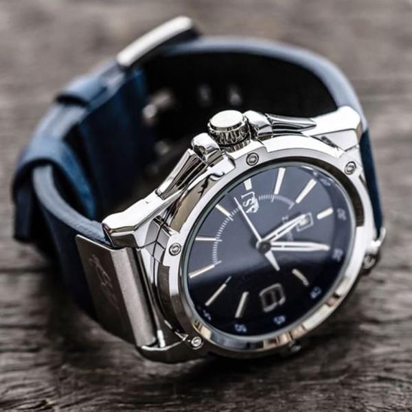 Đồng Hồ Nam Chống Nước Tuyệt Đối Mặt Kính Sapphire, Dây Da Xịn - mẫu đồng hồ nam giá rẻ mà chất lượng cực tốt của ASJ bán chạy