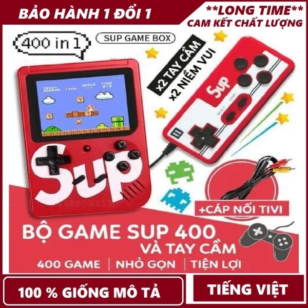 Máy chơi game cầm tay; Máy chơi game 4 nút 400 trò chơi - kèm cáp kết nối cho TV - Pin rời dễ tháo lắp