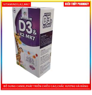 Vitamin D3 K2 Mk7 Nhỏ Giot Giúp Bé Hấp Thụ Calci Tăng Trưởng Chiều Cao Cân Nặng Tăng Sức Đề Kháng Hộp 10ml thumbnail