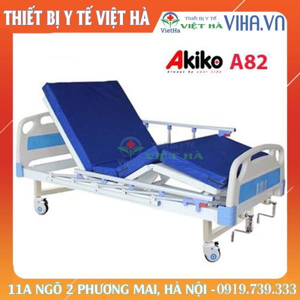 Giường bệnh nhân 2 tay quay Akiko A82 cao cấp