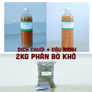 Combo 1 lít dịch chuối + 1 lít dịch đậu nành, dịch đỗ tương + 2kg bò khô thumbnail
