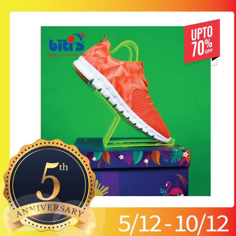 Giày Thể Thao Bitis Cao Cấp - HUNTER - DSW053533 công nghệ dệt Litenit nhẹ như bay, công nghệ thoát mồ hôi chống hôi chân công nghệ hút ẩm Bitis, bảo hành 3 năm. giá rẻ