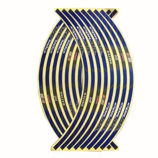 Bộ Decal dán vành xe máy logo Honda CBR màu xanh dương thumbnail