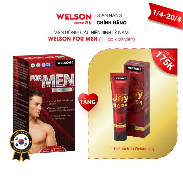 Viên Uống Cải Thiện Sinh Lý Nam Welson For Men hộp 60 viên