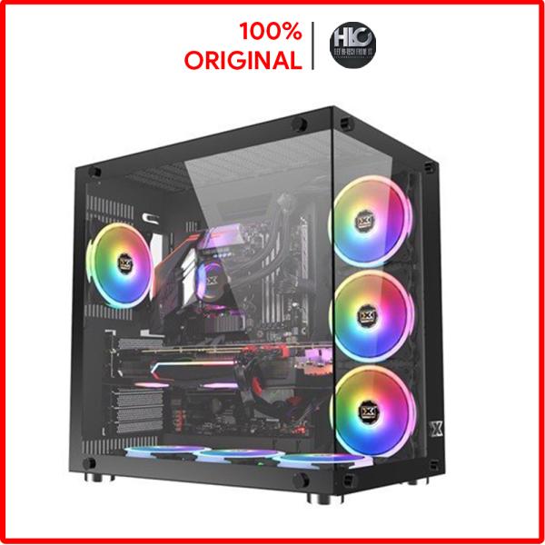 Bảng giá [HCM] Vỏ Case Máy tính Xigmatek Aquarius Plus Black EN43330 (No Fan) - Hàng New Fullbox Phong Vũ