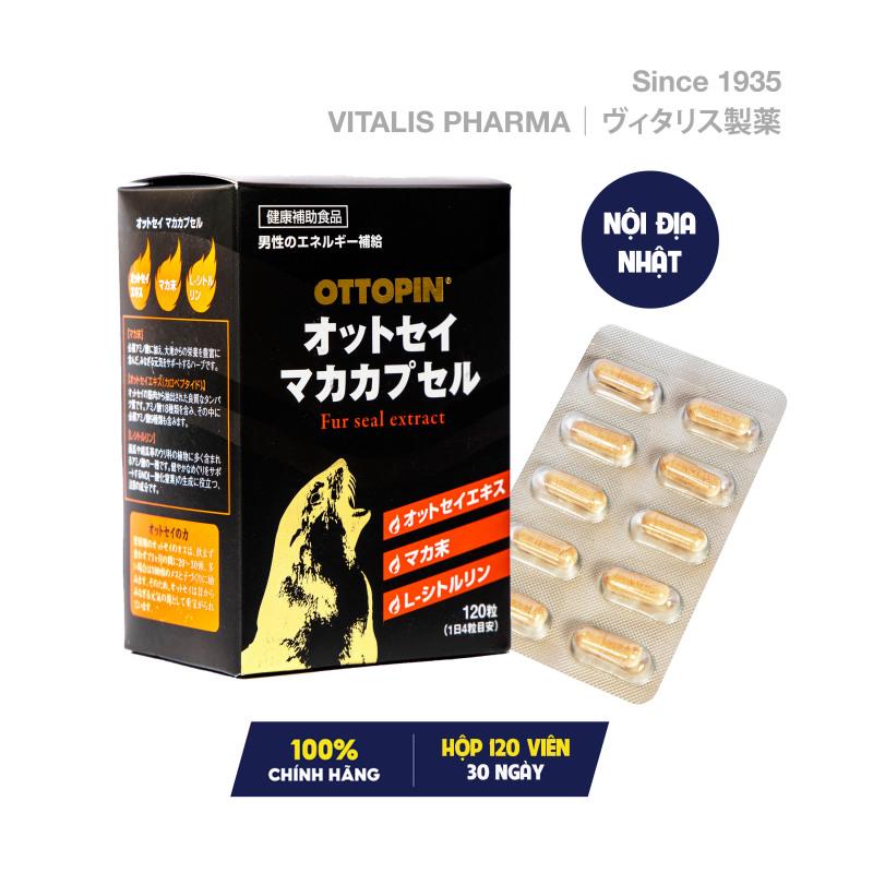 Viên uống OTTOPIN® Fur Seal Maca Capsules chứa Callopeptides & Maca hỗ trợ giúp tăng cường sức khỏe và sinh lý nam giới