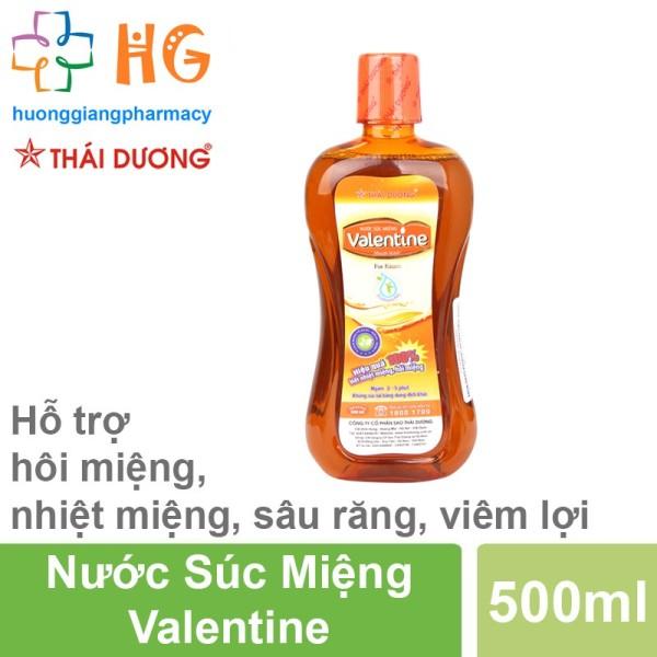 Nước súc miệng Valentine - Giúp làm sạch khuẩn khoang miệng, làm sạch mảng bám trên răng (Chai 500ml) cao cấp