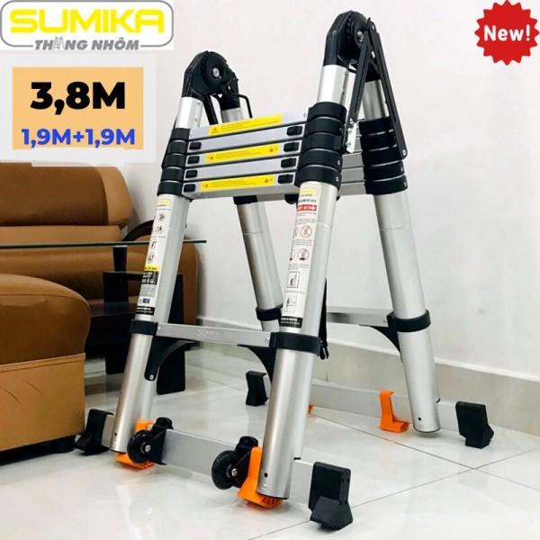 Thang Nhôm Rút Đôi (Chữ A: 1,9M; Chữ I: 3,8M) Sk380D Sumika New