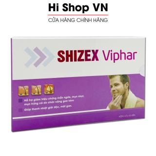 SHIZEX VIPHAR giảm mẩn ngứa, mụn nhọt, mụn trứng cá do gan kém - Hộp 30 viên thumbnail