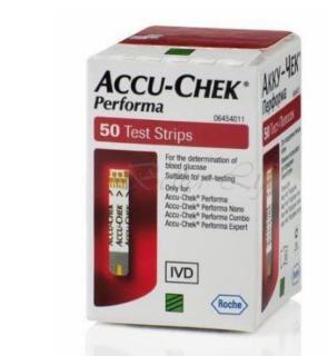 Hộp 50 que-Que thử đường huyết Accu-Chek Performa thumbnail