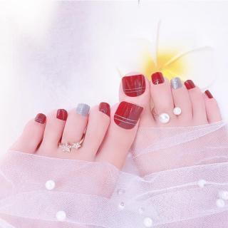 Bộ 24 Móng chân giả , nail giả C38 (kèm keo dán) thumbnail