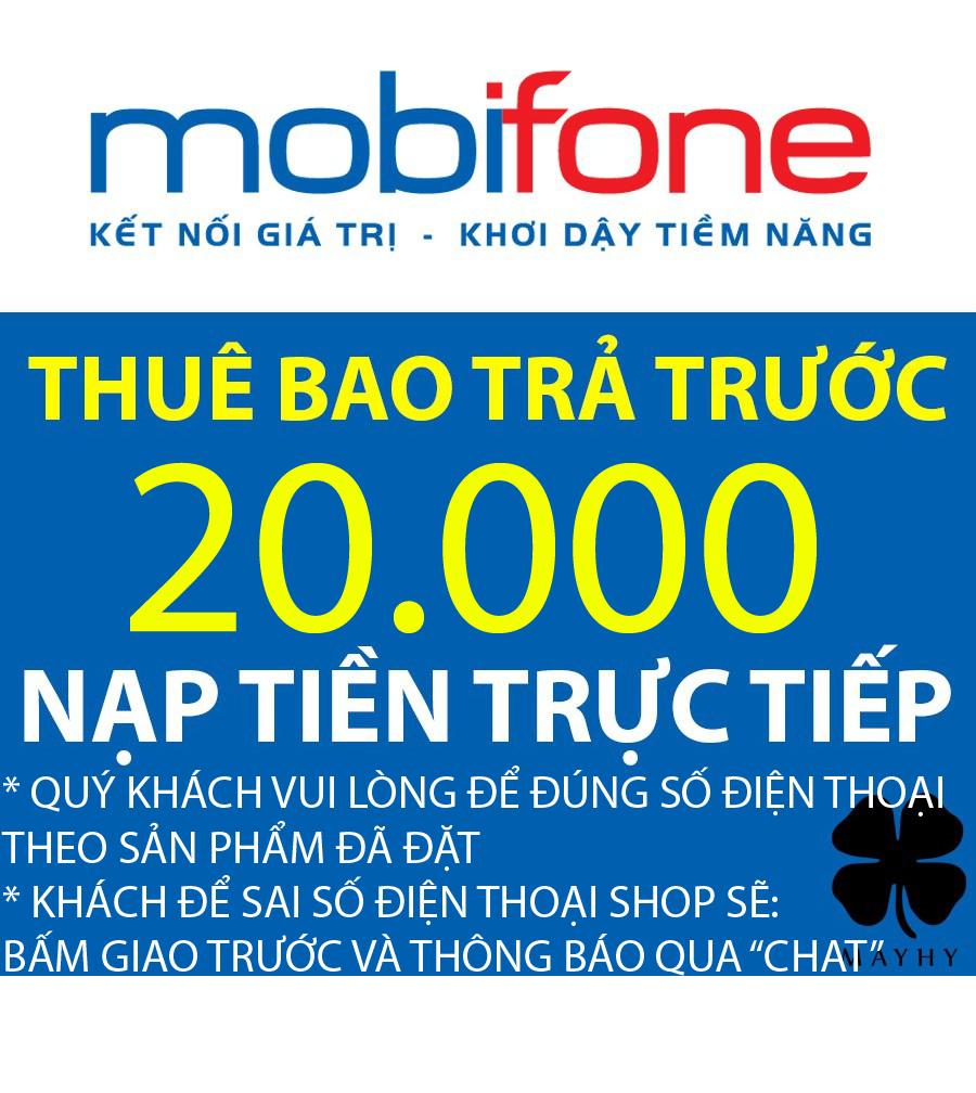 Giá Quá Tốt Để Có Nạp Tiền Mobifone 20.000 - Nạp Tiền Trực Tiếp Thuê Bao Trả Trước