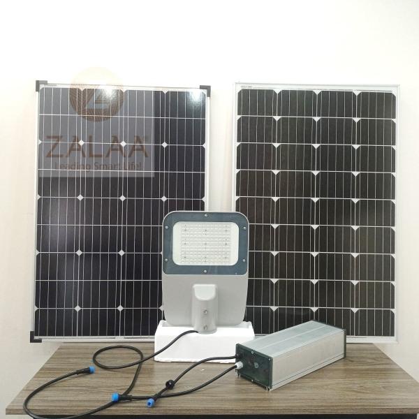 Bộ Đèn Đường LED Năng Lượng Mặt Trời 100w mẫu đèn BRP 371; 372; 373 OEM Philips
