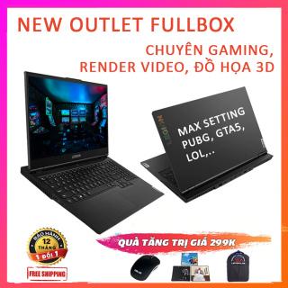 (NEW OUTLET FULL BOX) Lenovo Legion 5- 15IMH05 Chuyên Gaming, Render VIdeo, Đồ Họa 3K, i7-10750H, RAM 8G, SSD 512G, VGA Nvidia GTX 1650-4G thumbnail