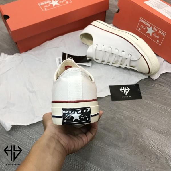 Giày CONVERSE TRẮNG Thấp  Cổ Nam Nữ[ẢNH THẬT + FULLBOX]