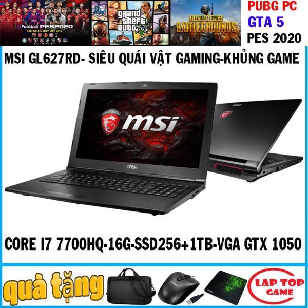Bảng giá MSI GL62M 7RD khủng long game Core i7-7700HQ, ram 16g, ssd 256g+ hdd 1tb,  VGA GTX 1050M/  15.6 inch Full HD 1920*1080, dòng gaming chuyên game đồ họa Phong Vũ