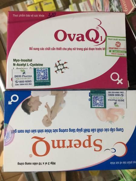Combo OvaQ1- SpermQ giúp khỏe trứng- mạnh tinh trùng, hỗ trợ mang thai tự nhiên nhập khẩu