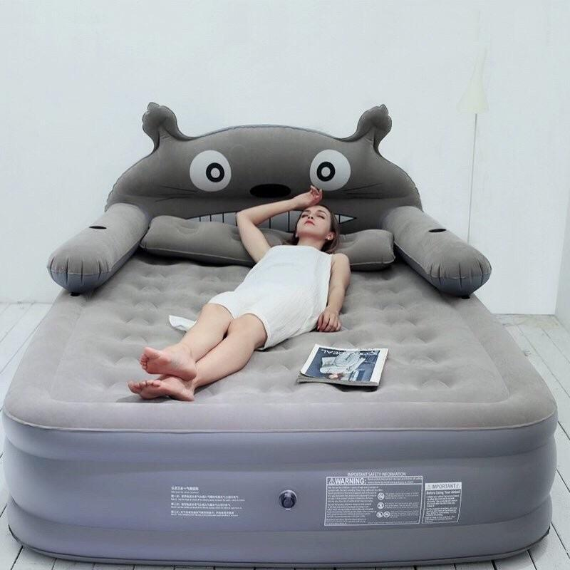 Giường Hơi Totoro Xám Kích Thước 1m5 Siêu Khuyến Mại
