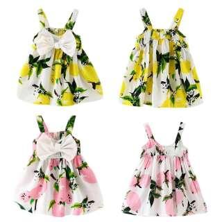 Đầm / Váy Xòe Hai Dây Thắt Nơ Kiểu Hàn Quốc Dễ Thương Và Sành Điệu Mặc Hè Cho Bé Gái (Đầm đẹp xinh bé gái dự tiệc đi chơi du lịch sinh nhật TTS212