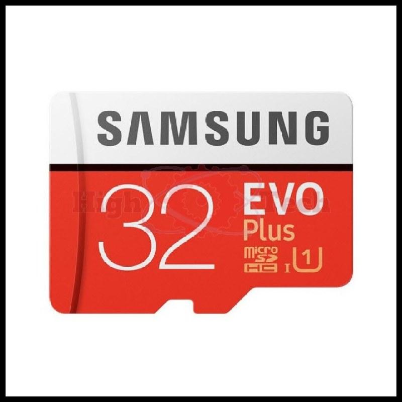 Thẻ nhớ Samsung EVO Plus 32GB (Đỏ) thẻ + Hộp nhựa (Hàng TRAY) tặng đầu đọc thẻ