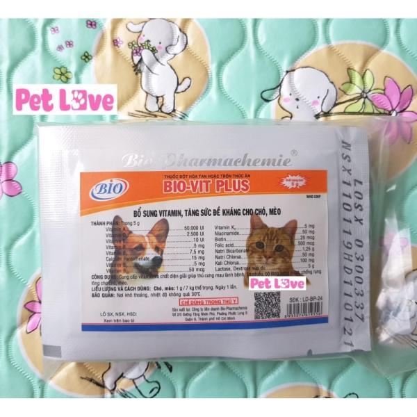 Combo 10 gói Bio Vit Plus bổ sung vitamin, tăng sức đề kháng chó mèo