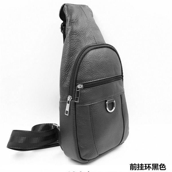 Yaguoma New Style Chest Men Leather Messenger Bag Uncle Leisure Fashion Full-grain Leather Chest Small Backpack