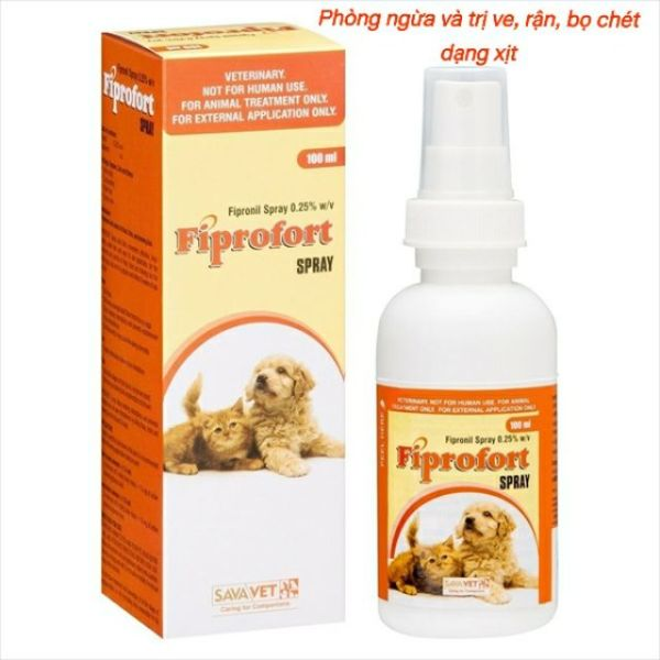 Chai xịt ve rận bọ chét Fiprofort Spray 100ml