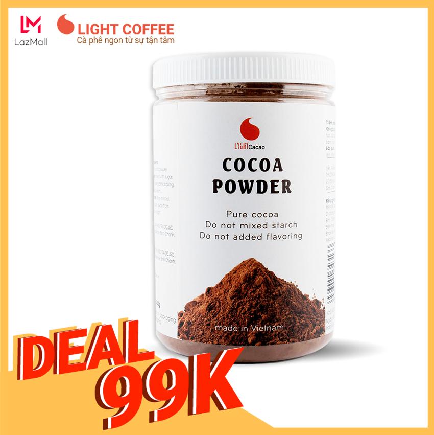 [MÃ GIẢM CÒN 99K] Bột Cacao Nguyên Chất Không đường Light Cacao Tốt Cho Sức Khỏe - Hũ 350g Có Giá Tốt