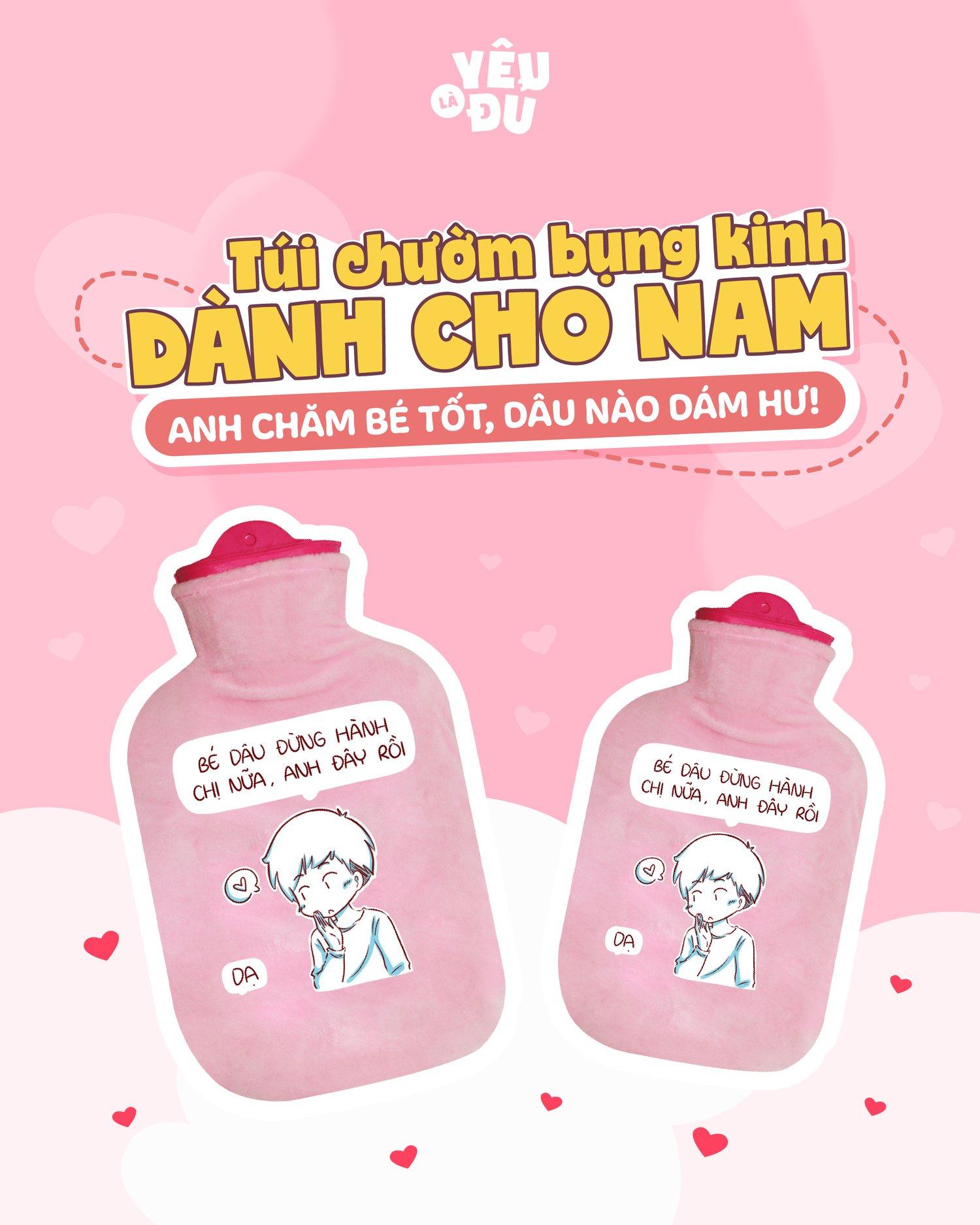 Túi Chườm Bụng Kinh Dành Cho Nam - YÊU LÀ ĐỦ