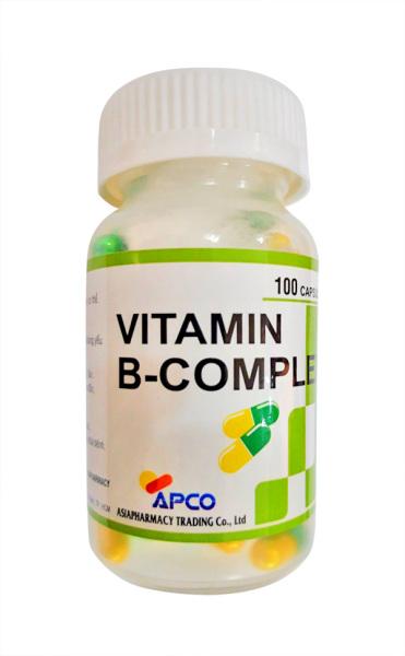 Viên uống Vitamin B-Complex Chai 100 viên APCO