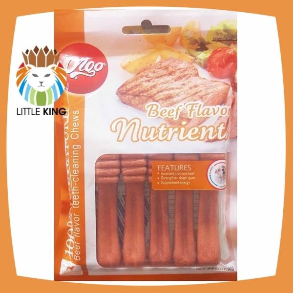Xương gặm Orgo 90gr hương vị thịt bò giúp sạch răng, thơm miệng và bổ xung canxi - Little King pet shop