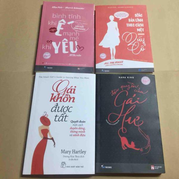 Mua Combo 4 cuốn gáikhôn đượctất+đặc quyền gái hư+bình tĩnh khi ế+sống bản lĩnh