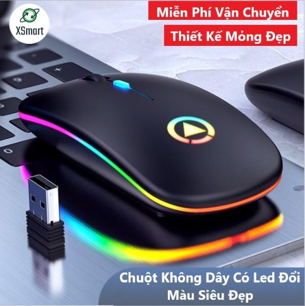 Bảng giá Chuột Không Dây Siêu Đẹp A2PRO Có Đèn Led Đổi Màu Pin Sạc Dùng Cực Trâu  Kiểu Dáng Mỏng Gọn Thích Hợp Dùng Văn Phòng Chơi Game Làm Việc Tương Thích Máy Tính Laptop PC Tivi Phong Vũ