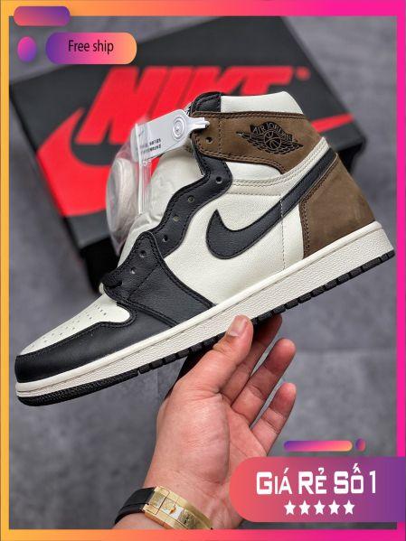 (FULL BOX + QUÀ TẶNG) Giày thể thao Air Jordan 1 Retro  Dark Mocha cao cổ siêu đẹp dành cho nam và nữ giá rẻ