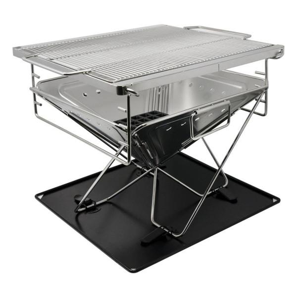 Bếp nướng than chống gỉ Made by Vietcamp - Inox 304 - Cỡ LỚN cho nhóm 6-10 người - 45x45cm - có thể xếp gọn