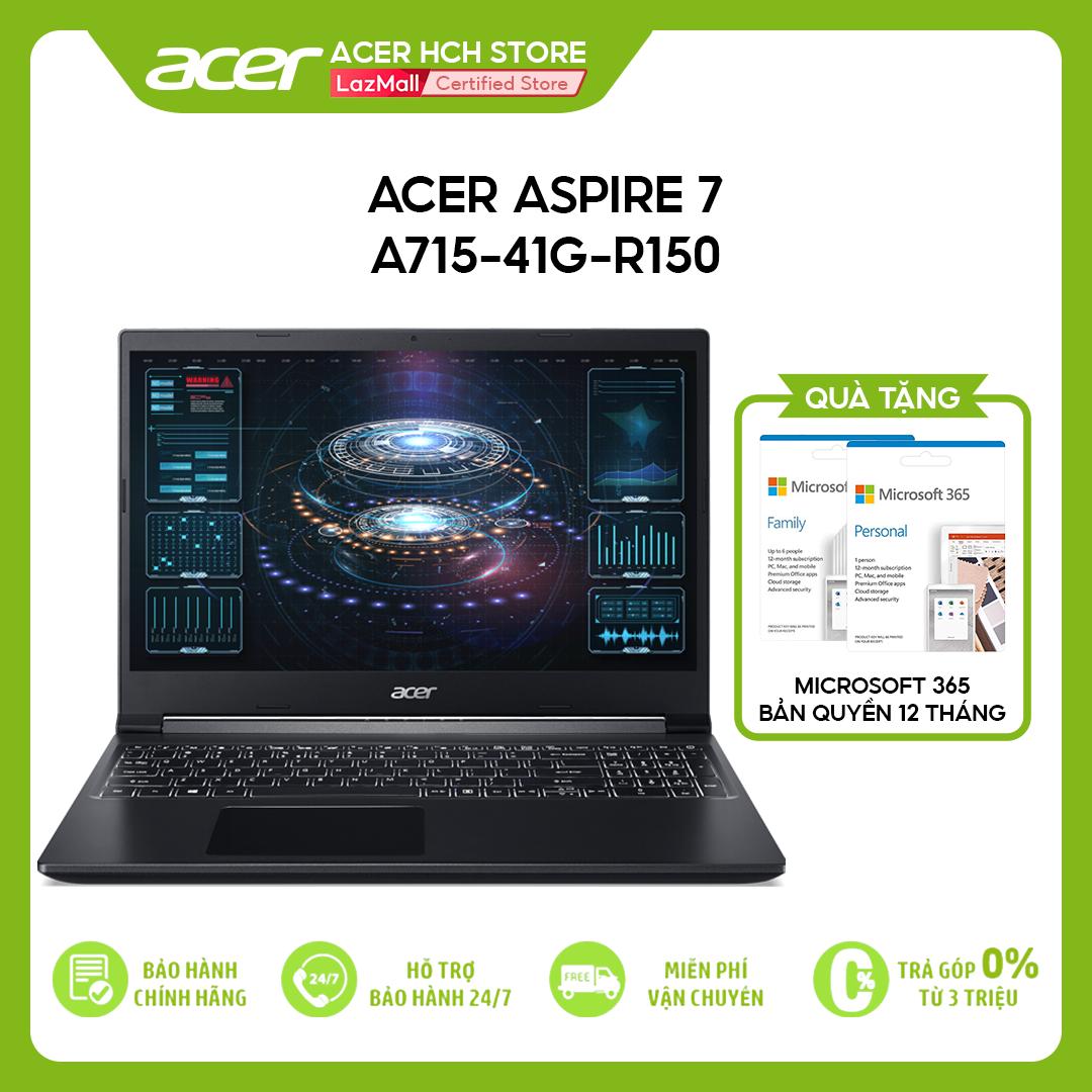 [VOUCHER 10% từ 27-29.03] Laptop Gaming Acer Aspire 7 A715-41G-R150 R7-3750H   8GB   512GB   VGA GTX 1650Ti 4GB   15.6'' FHD   Win 10