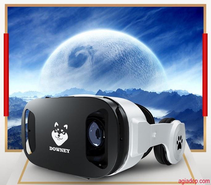 Giá Kính thực tế ảo VR cao cấp Downey - Sói bạc X9 hình ảnh sống động (Nổi tiếng Toàn cầu) + Có Tay Điều Khiển chơi games xem phim 3D