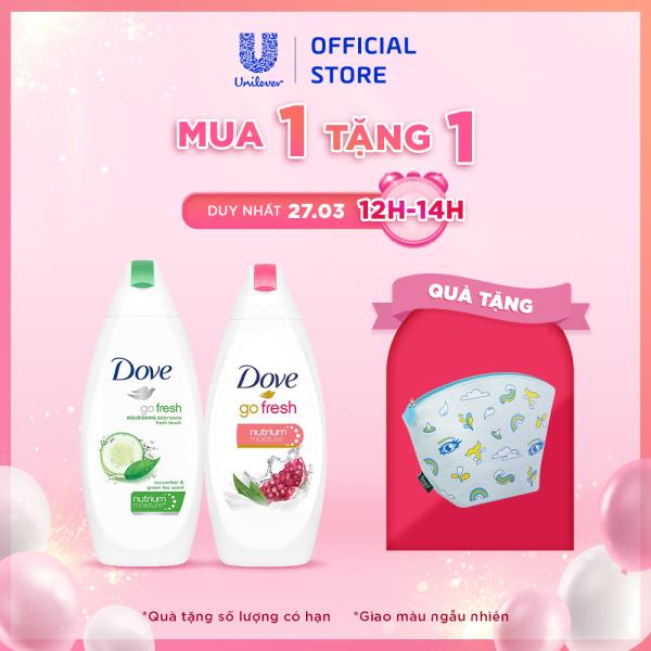 Bộ 2 Sữa tắm dưỡng ẩm Dove Hương Dưa Leo Trà Xanh và Sữa tắm dưỡng ẩm Dove Hương Lựu và Chanh (200mlx2)