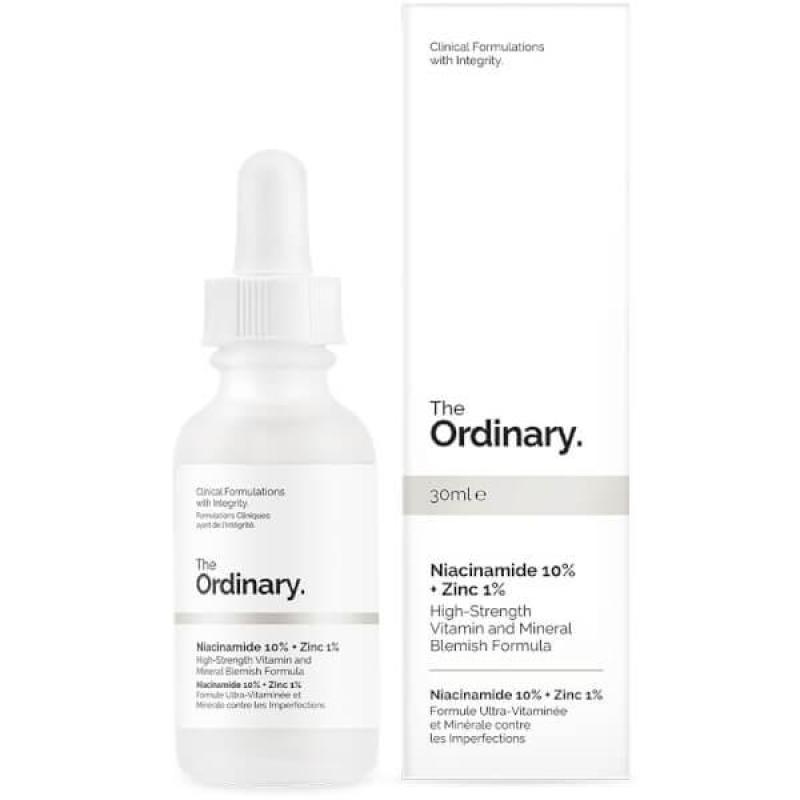 Serum trị mụn, giảm thâm, cân bằng nhờn The Ordinary Niacinamide 10% + Zinc 1% 30ml cao cấp